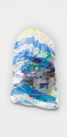Sammelsack für PET-Recycling